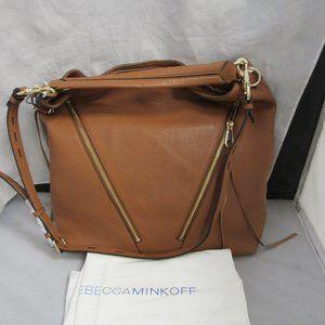 Rebecca Minkoff Moto Almond Leather Hobo Bag NWT
